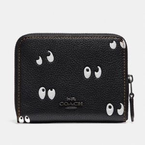 Disney X COACH Small Zip Around Wallet Spooky Eyes